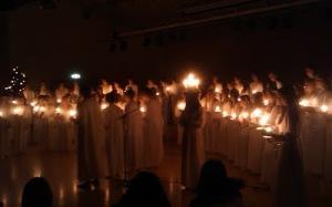 Luciaföreställning på Anderstorpsskolan, 2010